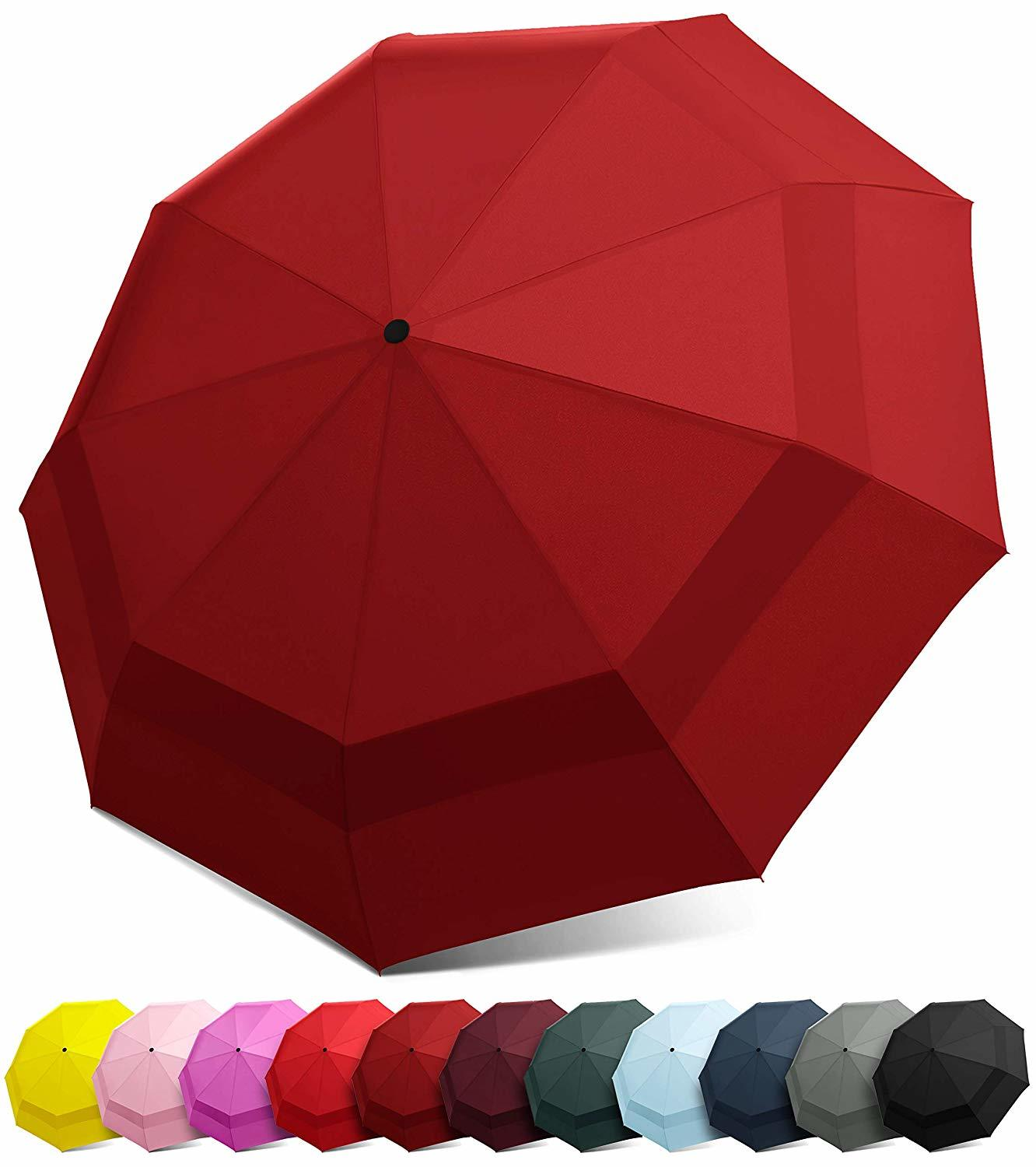 ​EEZ-Y Compact Travel Umbrella with Windproof Double Canopy