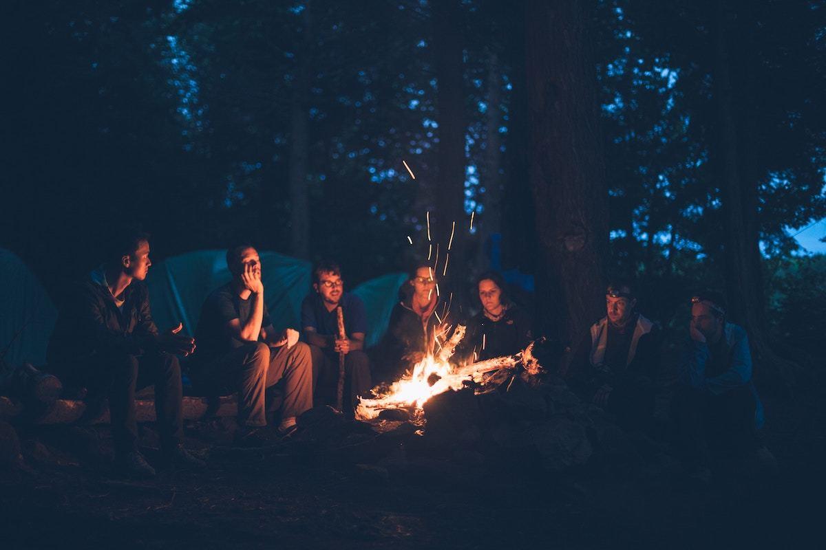 friend camping