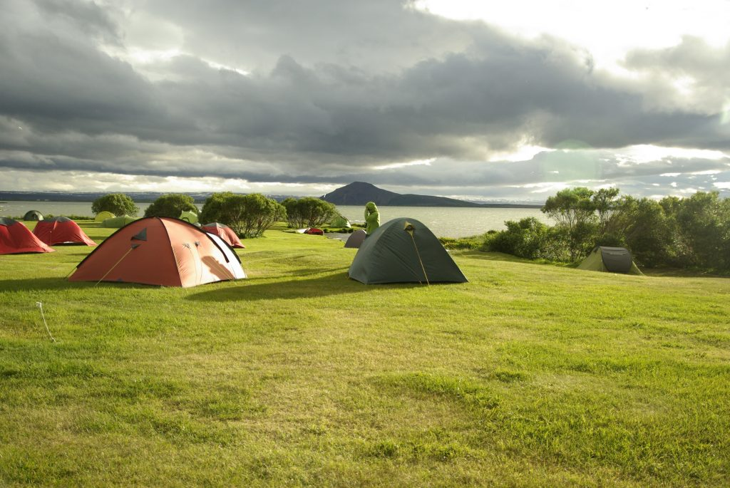 3-Season Tents and 4-Season Tents up in the hill