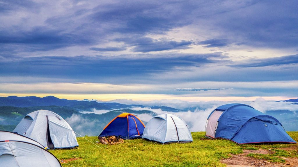 Tents in the hill